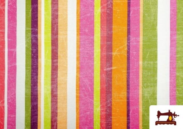 Venta de Telas de Rayas Anchas para Decoración Multicolor