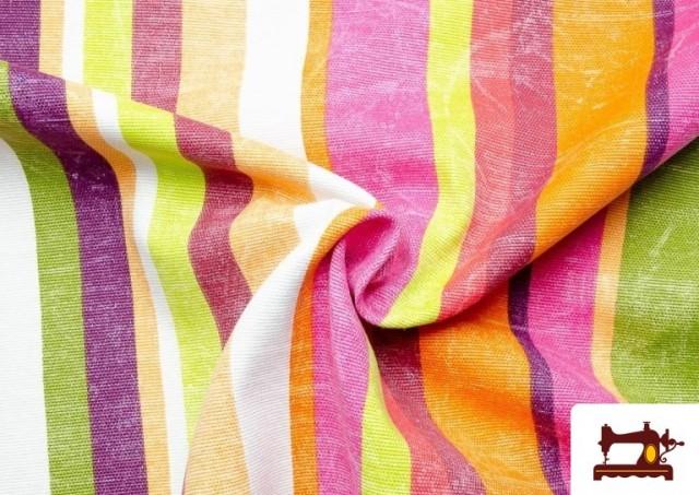 Venta online de Telas de Rayas Anchas para Decoración Multicolor