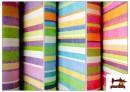 Telas de Rayas Anchas para Decoración Multicolor