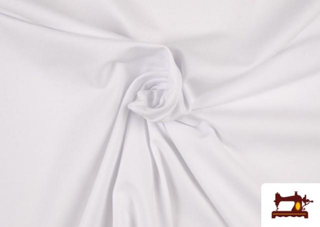 Comprar Tela de Punto de Camiseta de Colores color Blanco