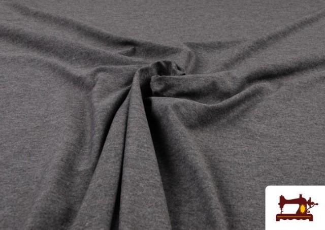 Venta online de Tela de Punto de Camiseta de Colores color Gris oscuro