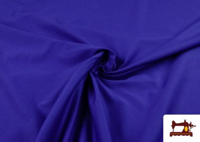 Tela de Punto de Camiseta de Colores color Azulón