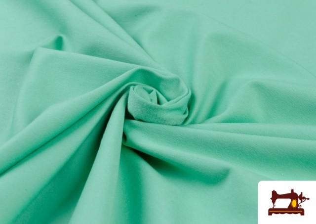 Tela de Punto de Camiseta de Colores color Verde mint