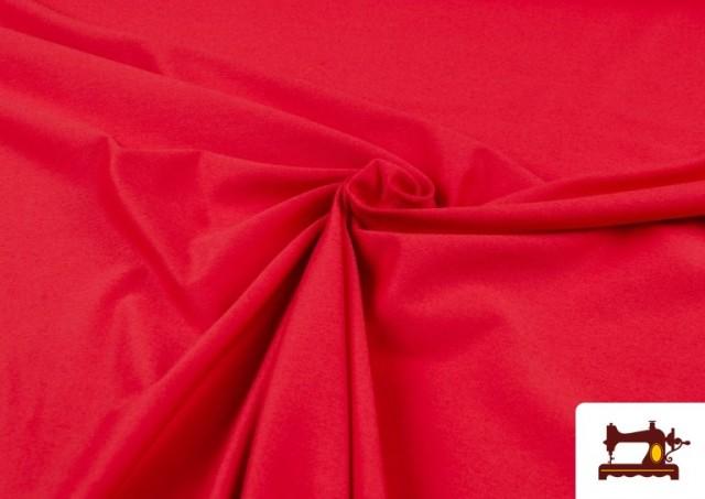 Comprar online Tela de Punto de Camiseta de Colores color Rojo