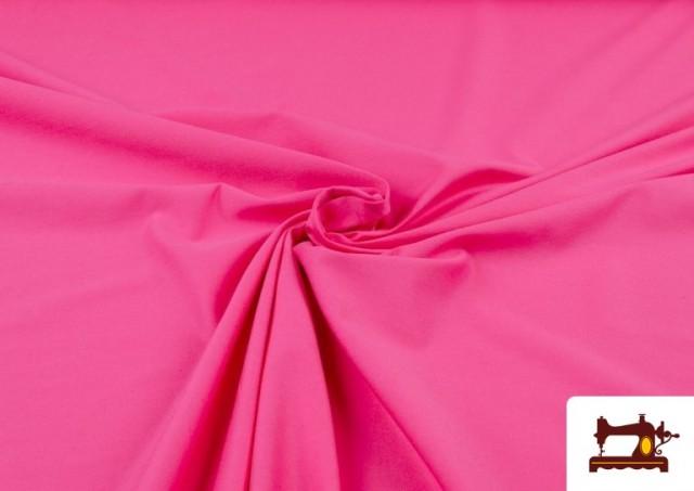 Venta online de Tela de Punto de Camiseta de Colores color Fucsia