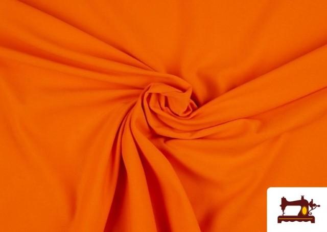 Tela de Punto de Camiseta de Colores color Naranja