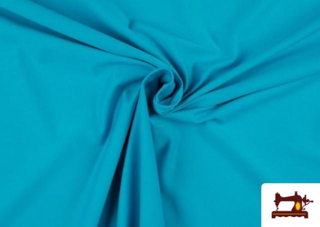 Tela de Punto de Camiseta de Colores color Azul turquesa
