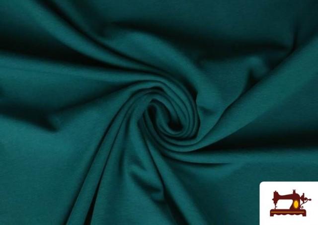 Tela de Punto de Camiseta de Colores color Verde Petróleo