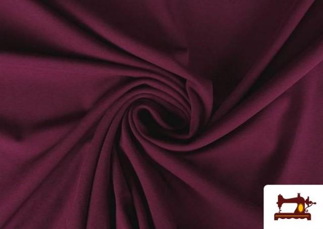 Comprar Tela de Punto de Camiseta de Colores color Granate