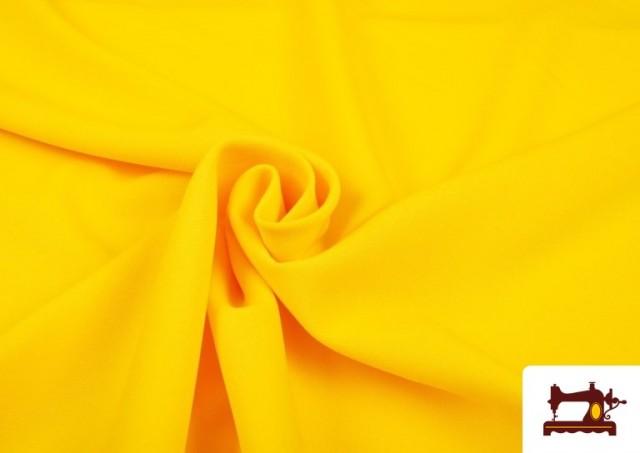 Comprar online Tela de Punto de Camiseta de Colores color Amarillo