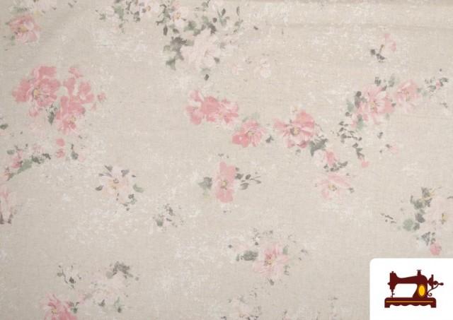 Comprar Tela Vintage con Estampado Floral Coordinado Grande