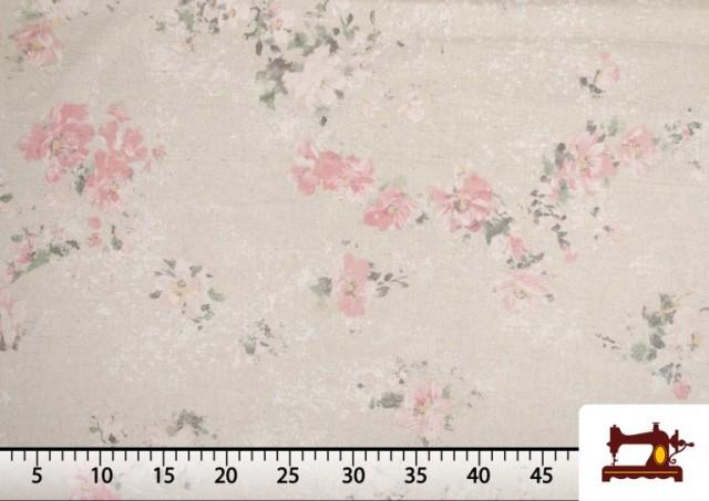Venta de Tela Vintage con Estampado Floral Coordinado Grande