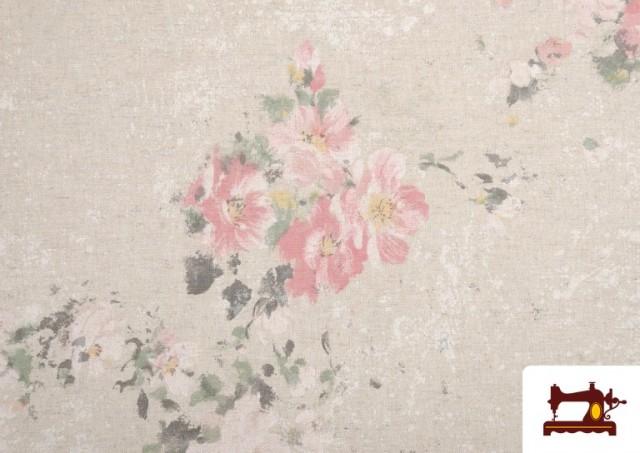 Comprar online Tela Vintage con Estampado Floral Coordinado Grande