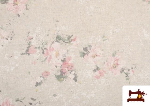 Venta online de Tela Vintage con Estampado Floral Coordinado Grande