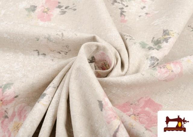 Tela Vintage con Estampado Floral Coordinado Grande
