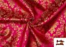 Comprar Tela de Jacquard de Flores de Colores Flores Doradas