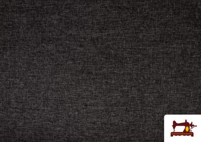 Venta de Tela de Tapicería Tejida Bicolor Seízal color Gris oscuro