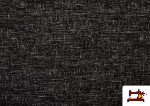 Comprar online Tela de Tapicería Tejida Bicolor Seízal color Gris oscuro