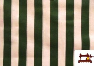 Tela de rayas anchas verdes tipo toldo