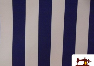 Comprar tela de rayas de toldo azul