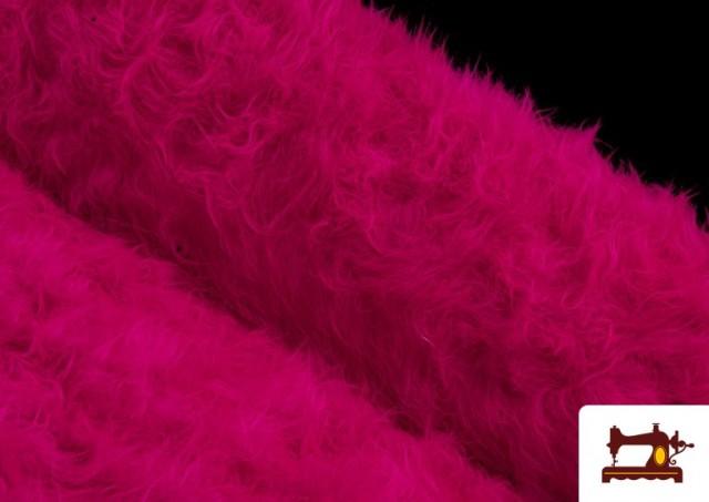 Venta online de Tela de Pelo Largo de Colores color Fucsia
