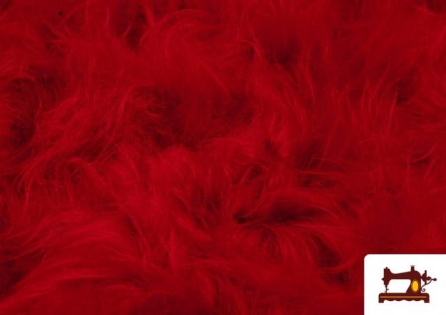 Comprar Tela de Pelo Largo de Colores color Rojo