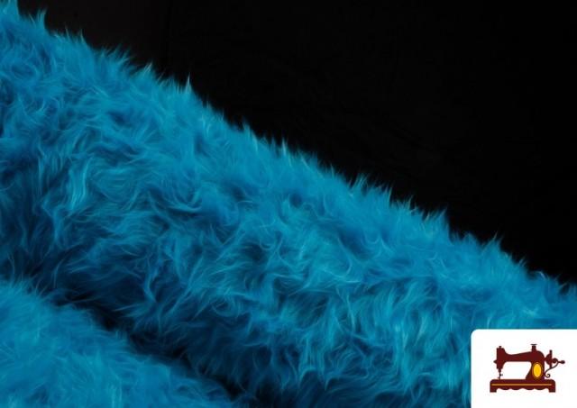 Venta de Tela de Pelo Largo de Colores color Azul turquesa