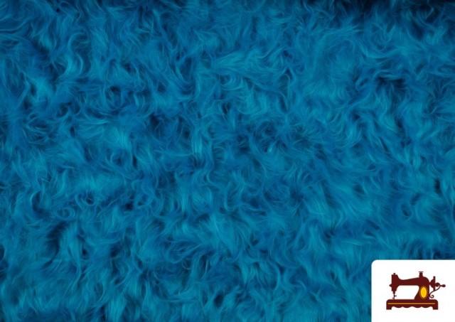 Comprar online Tela de Pelo Largo de Colores color Azul turquesa