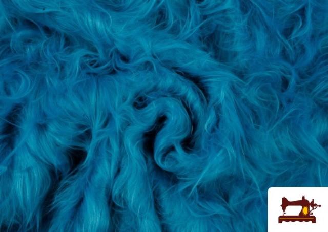 Tela de Pelo Largo de Colores color Azul turquesa