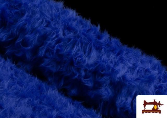 Comprar Tela de Pelo Largo de Colores color Azulón