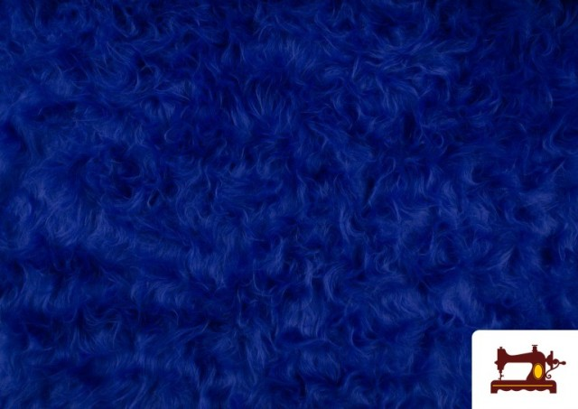 Venta de Tela de Pelo Largo de Colores color Azulón