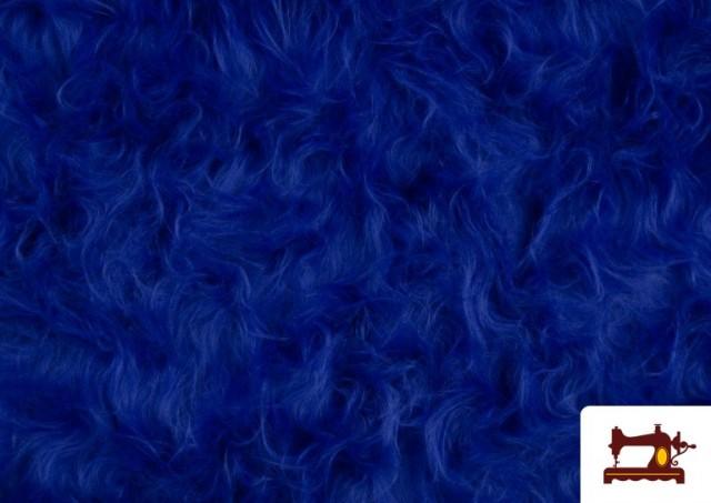 Comprar online Tela de Pelo Largo de Colores color Azulón