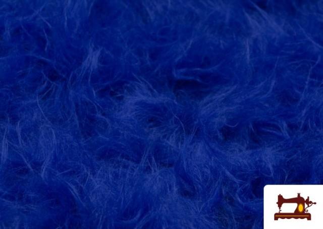 Tela de Pelo Largo de Colores color Azulón