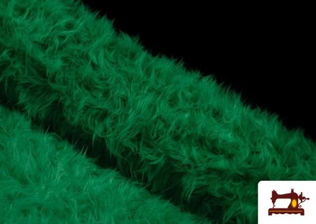 Tela de Pelo Largo de Colores color Verde
