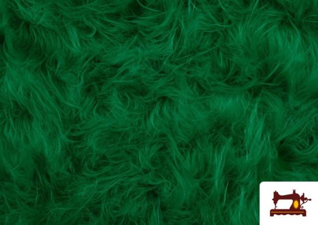 Venta de Tela de Pelo Largo de Colores color Verde