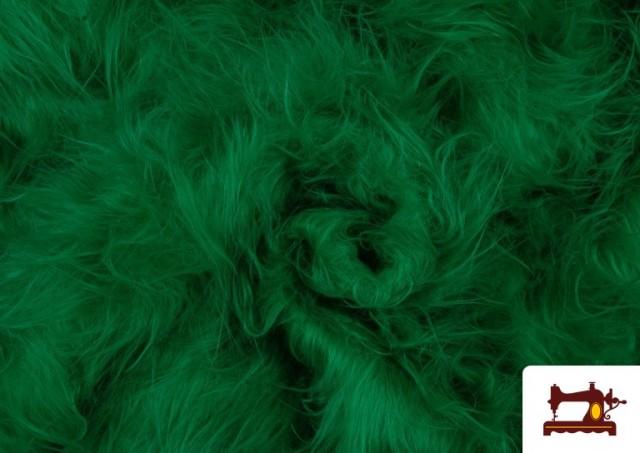 Comprar online Tela de Pelo Largo de Colores color Verde