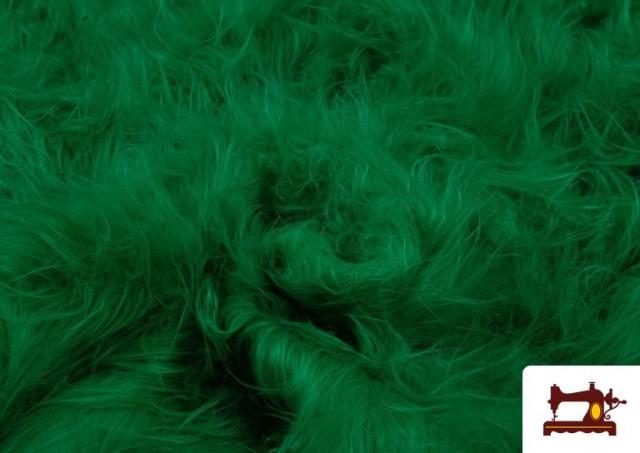 Venta online de Tela de Pelo Largo de Colores color Verde