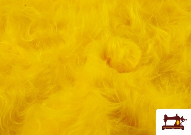 Venta de Tela de Pelo Largo de Colores color Amarillo