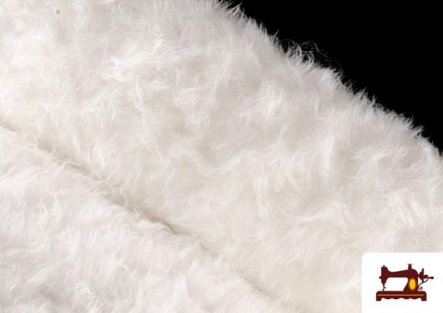 Venta online de Tela de Pelo Largo de Colores color Blanco