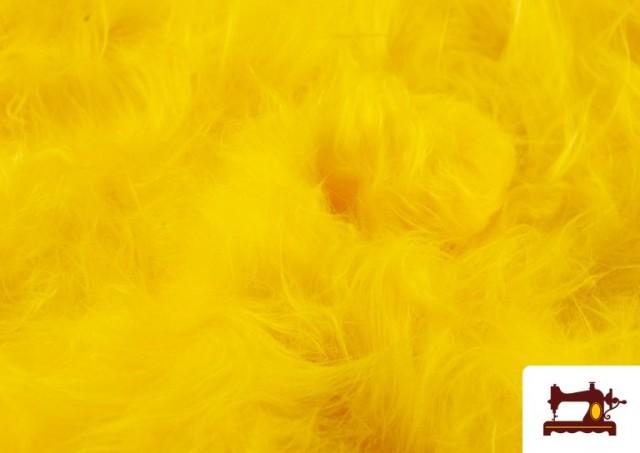 Tela de Pelo Largo de Colores color Amarillo