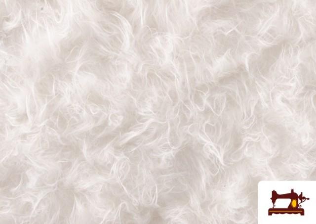 Tela de Pelo Largo de Colores color Blanco