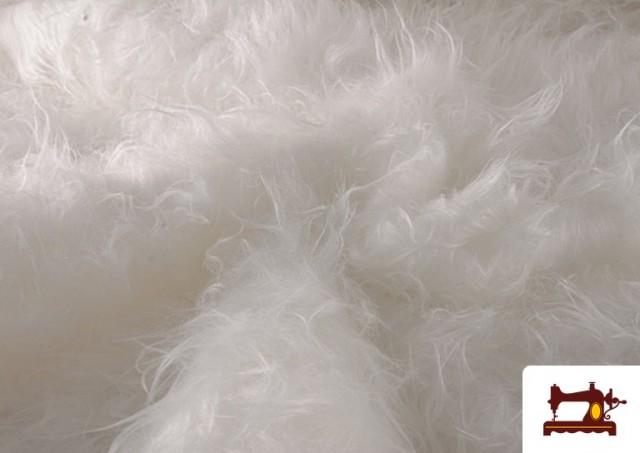 Venta de Tela de Pelo Largo de Colores color Blanco