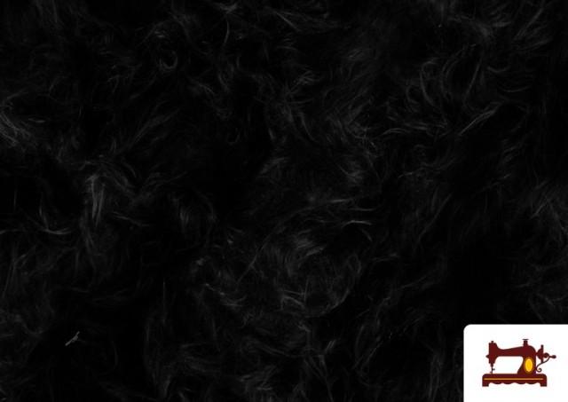 Tela de Pelo Largo de Colores color Negro