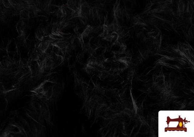 Comprar Tela de Pelo Largo de Colores color Negro