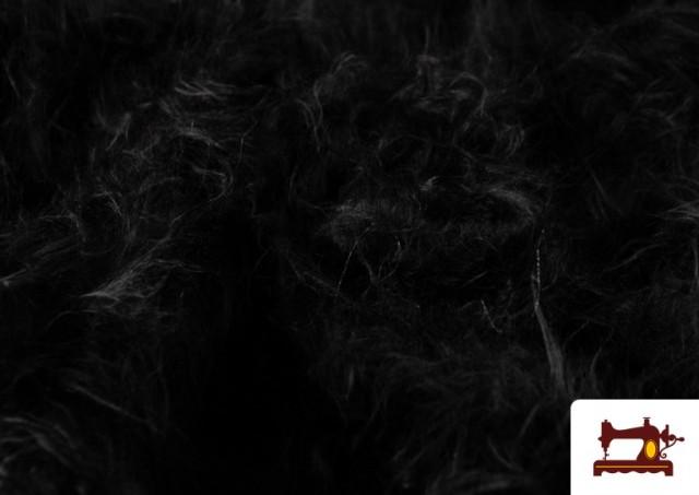 Venta de Tela de Pelo Largo de Colores color Negro