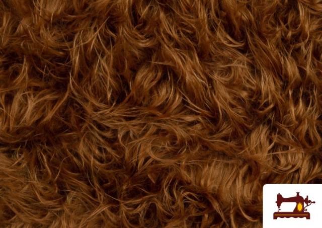 Comprar online Tela de Pelo Marron Largo para Disfraz de Animal color Marrón