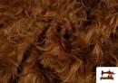 Venta online de Tela de Pelo Marron Largo para Disfraz de Animal color Marrón