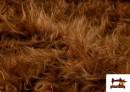 Tela de Pelo Marron Largo para Disfraz de Animal color Marrón