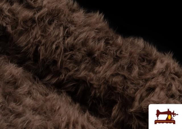 Tela de Pelo Marron Largo para Disfraz de Animal color Tostado