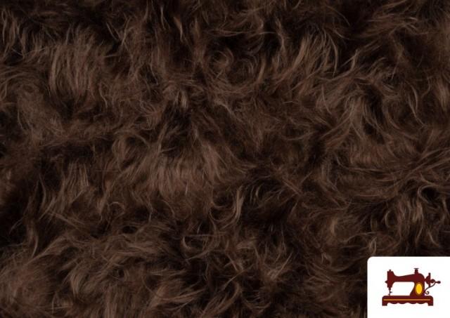 Venta de Tela de Pelo Marron Largo para Disfraz de Animal color Tostado